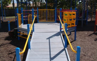 Ramp access playground