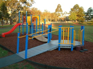 Playground with ramp access