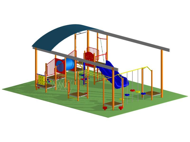Play Maze Roofed Playground