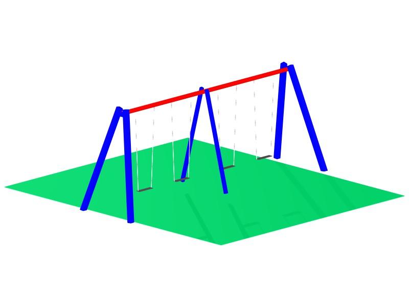 Quad Swing Set