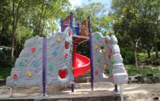 Double climbing wall